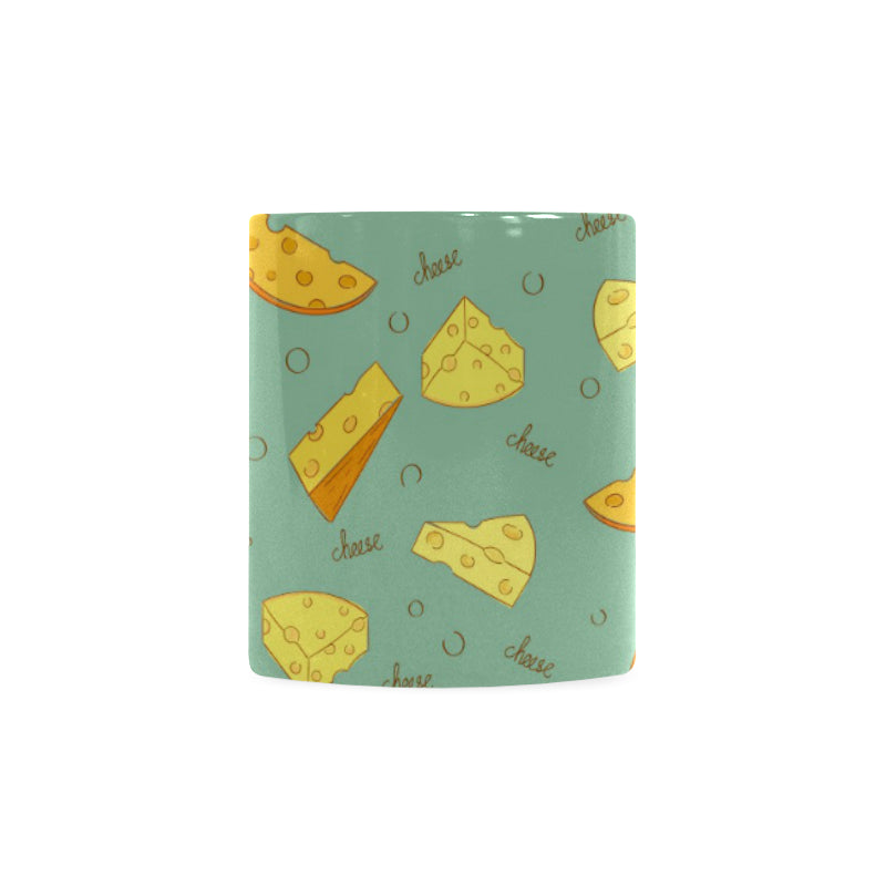 Cheese Pattern Background Classical White Mug (FulFilled In US)
