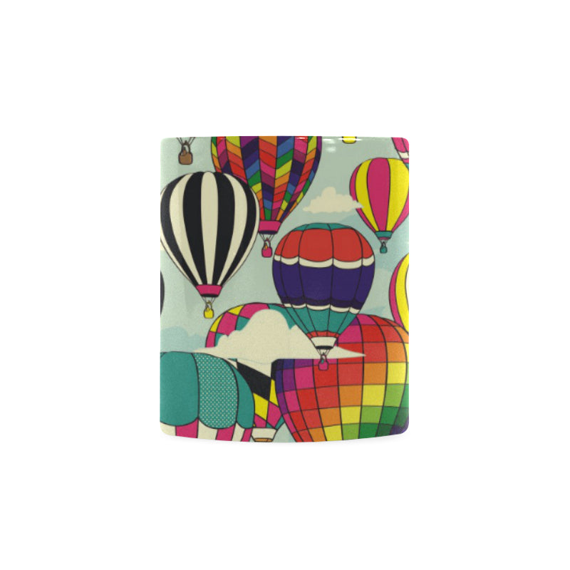 Hot Air Balloon Pattern Background Classical White Mug (FulFilled In US)