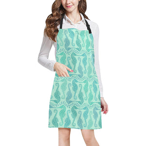 Seahorse Green Pattern Adjustable Apron