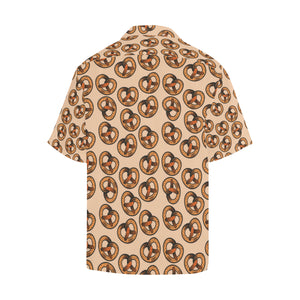 Pretzels Pattern Print Design 02 Men's All Over Print Hawaiian Shirt (Model T58)