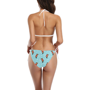 Otter Heart Pattern Sexy Bikinis Two-Pieces Swimsuits