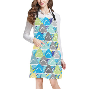 Shark Head Pattern Adjustable Apron