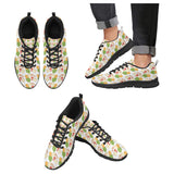 Sandwich Pattern Print Design 02 Men's Sneakers Black