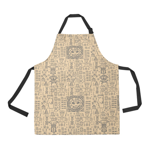 Egypt Hieroglyphics Pattern Print Design 04 Adjustable Apron