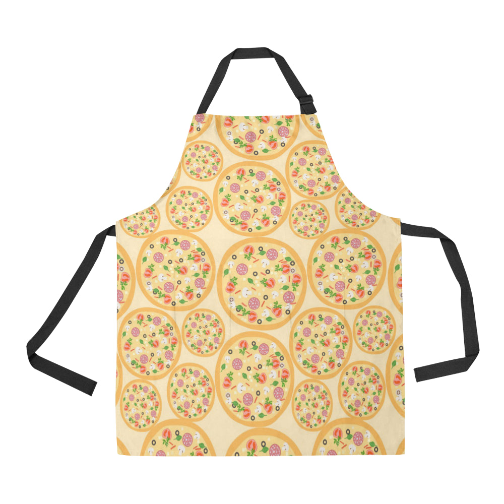 Pizza Theme Pattern Adjustable Apron