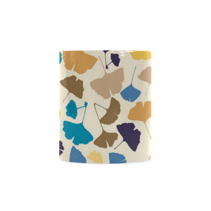 Colorful Ginkgo Leaves Pattern Classical White Mug (FulFilled In US)