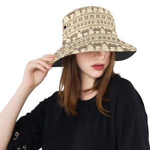 Traditional Camel Pattern Ethnic Motifs Unisex Bucket Hat