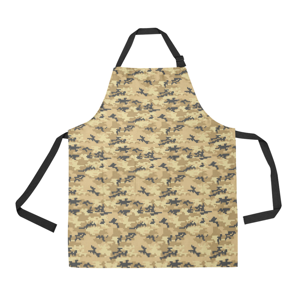 Sand Camo Camouflage Pattern Adjustable Apron