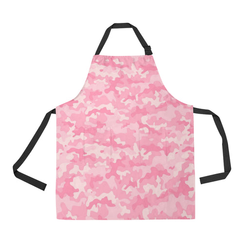 Pink Camo Camouflage Pattern Adjustable Apron