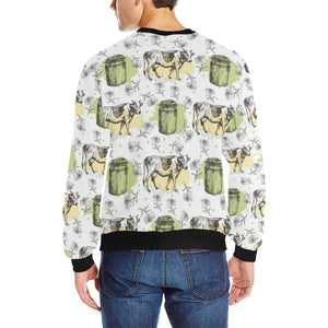Cow Pattern Men's Crew Neck Sweatshirt