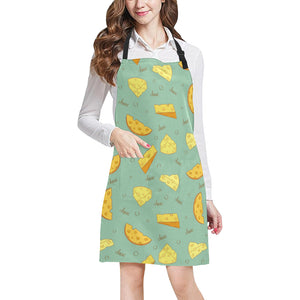 Cheese Pattern Background Adjustable Apron