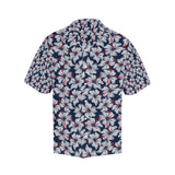 Hibiscus Pattern Print Design 02 Men's All Over Print Hawaiian Shirt (Model T58)