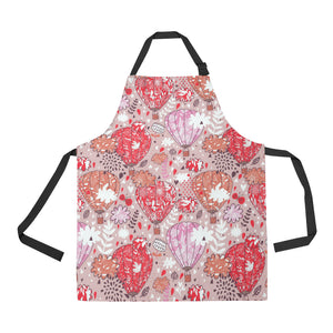 Red Pink Hot Air Balloon Pattern Apron