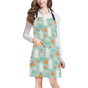 Windmill Pattern Theme Adjustable Apron