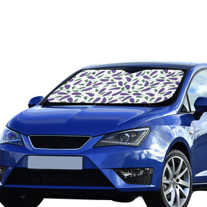 Eggplant Pattern Print Design 05 Car Sun Shade