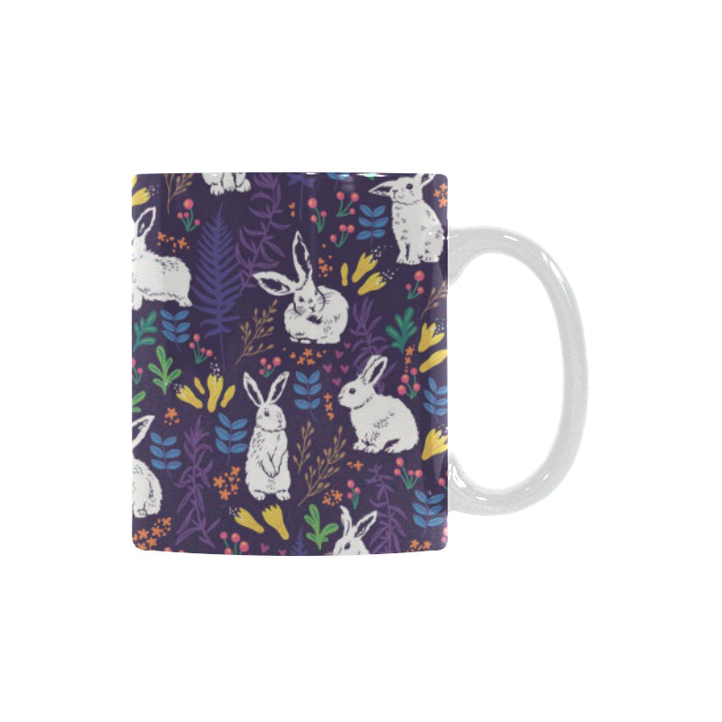 Rabbit Leaves Pattern Classical White Mug (FulFilled In US)