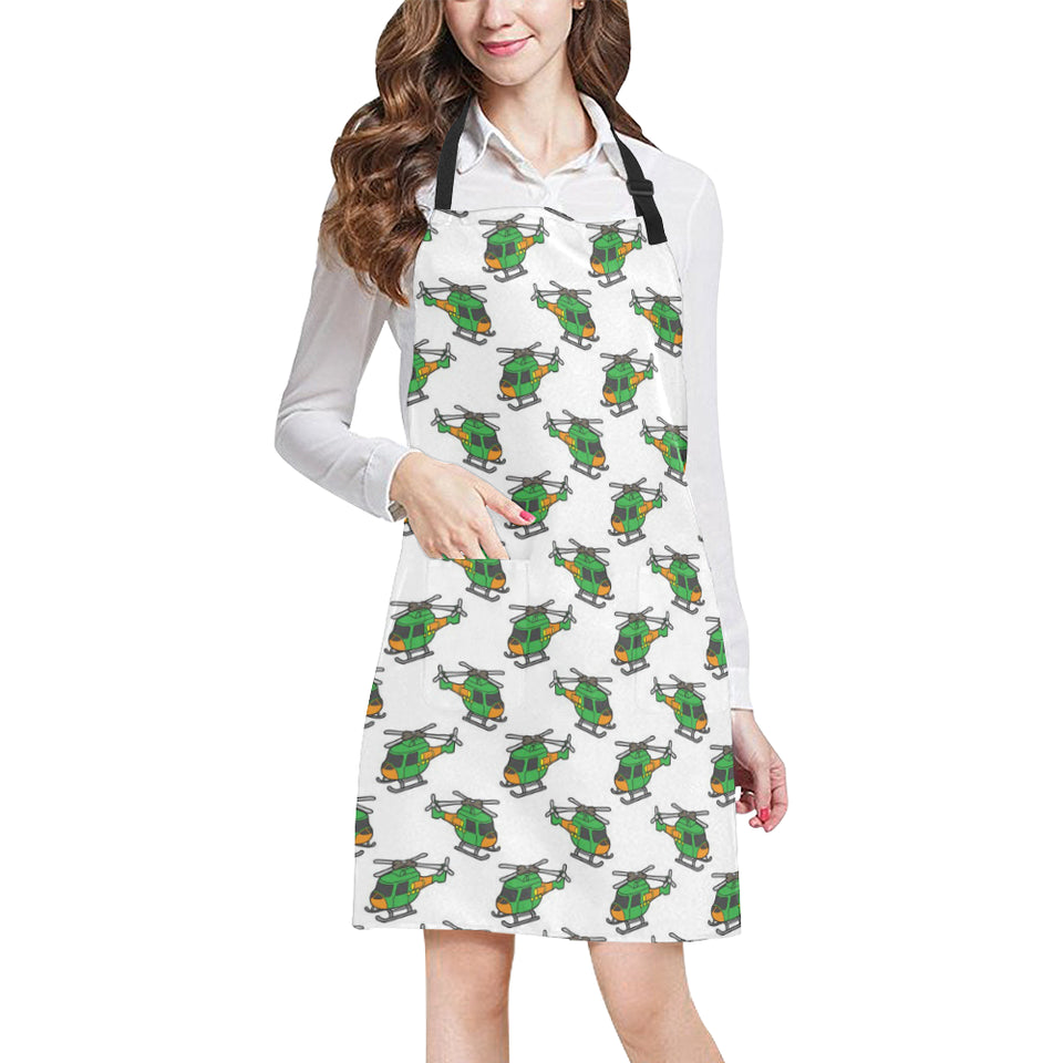 Green Amy Helicopter Pattern Adjustable Apron