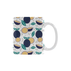Passion Fruit Pattern Classical White Mug (FulFilled In US)