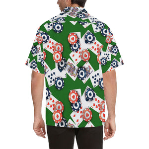 Casino Cards Suits Pattern Print Design 03 Men's All Over Print Hawaiian Shirt (Model T58)