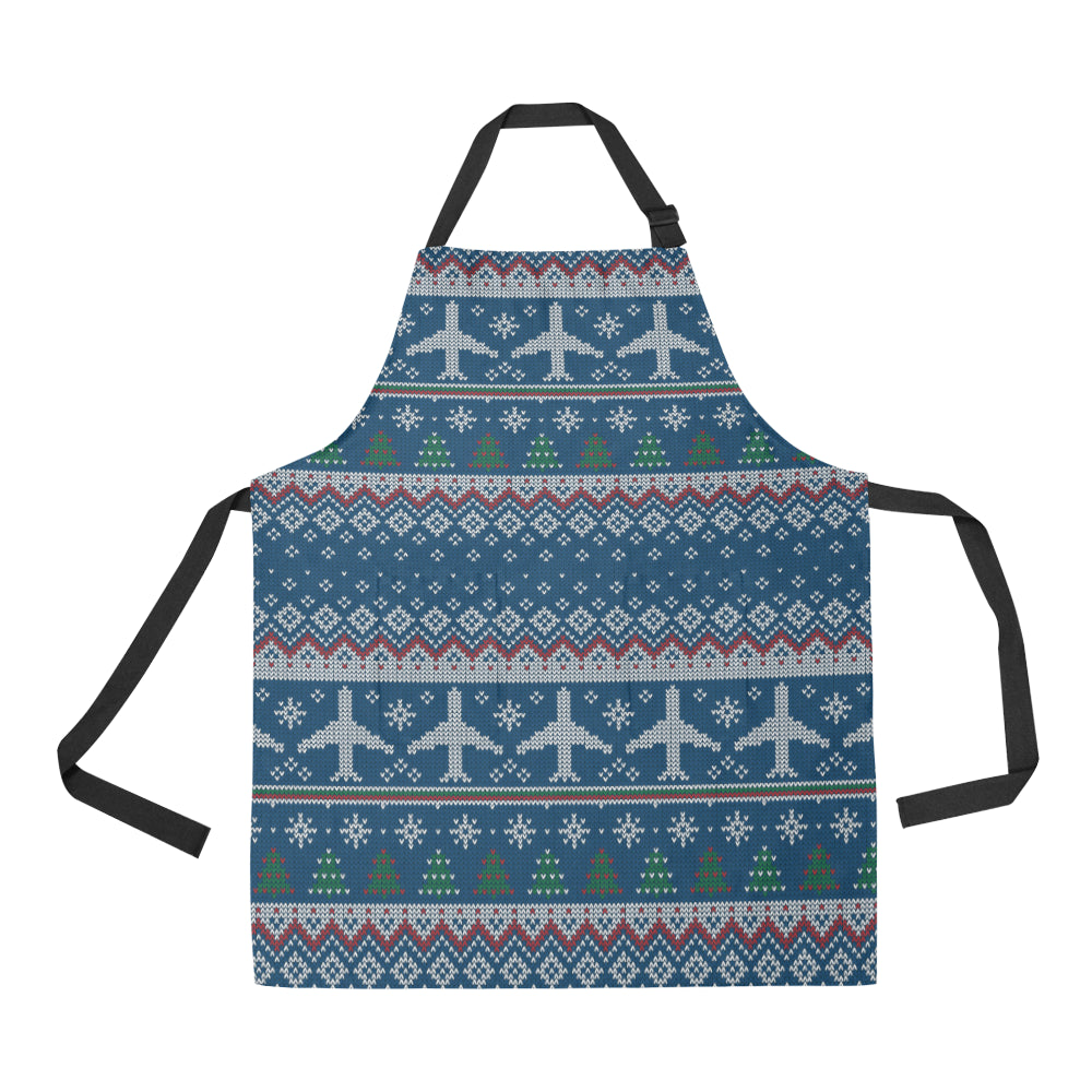 Airplane Sweater printed Pattern Adjustable Apron