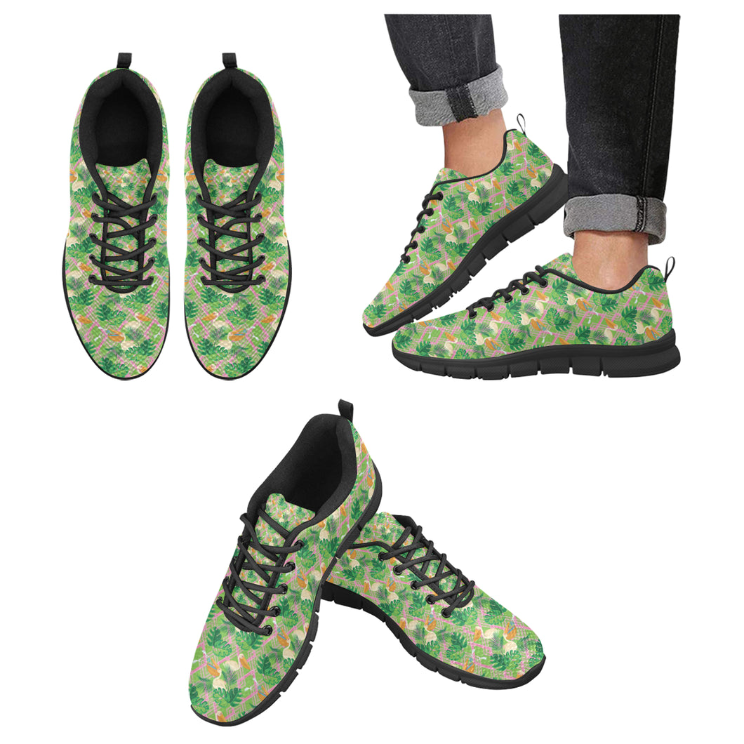 Pelican Pattern Print Design 05 Men's Sneakers Black