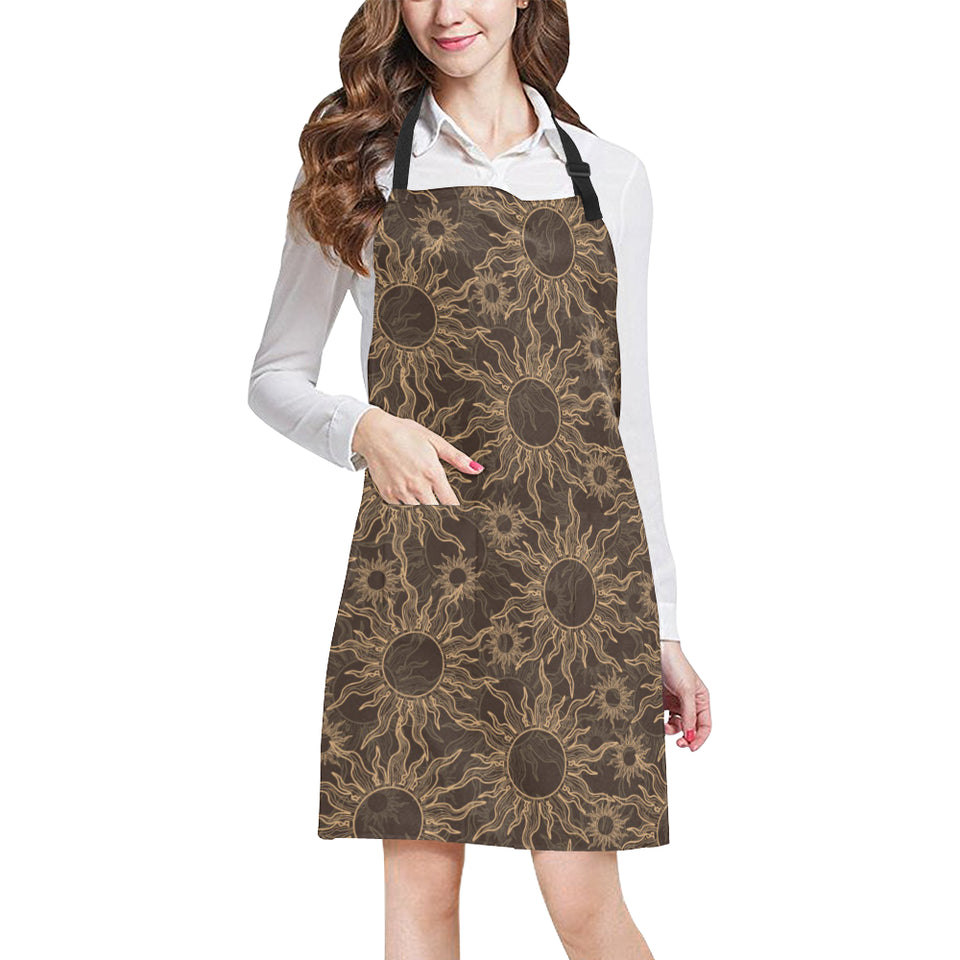 Sun Pattern Theme Adjustable Apron