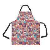 Vintage Decorative Elements Arabic Morocco Pattern Adjustable Apron