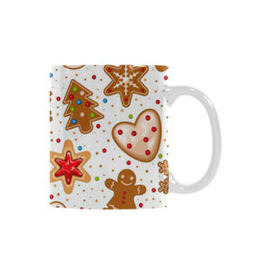 Christmas Cookie Pattern Classical White Mug (FulFilled In US)