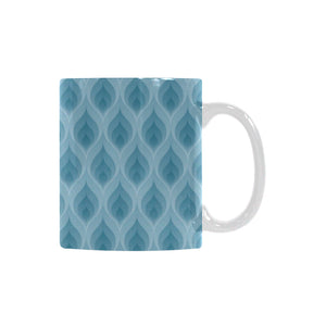 Blue Flame Fire Pattern Classical White Mug (FulFilled In US)
