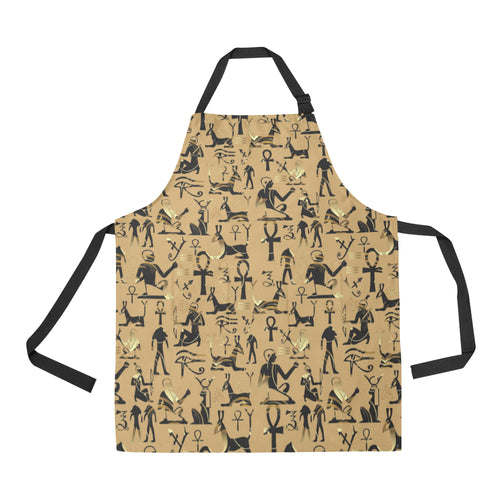 Egypt Hieroglyphics Pattern Print Design 02 Adjustable Apron