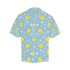 Duck Toy Pattern Print Design 02 Men's All Over Print Hawaiian Shirt (Model T58)