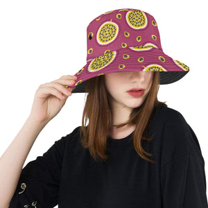 Sliced Passion Fruit Pattern Unisex Bucket Hat