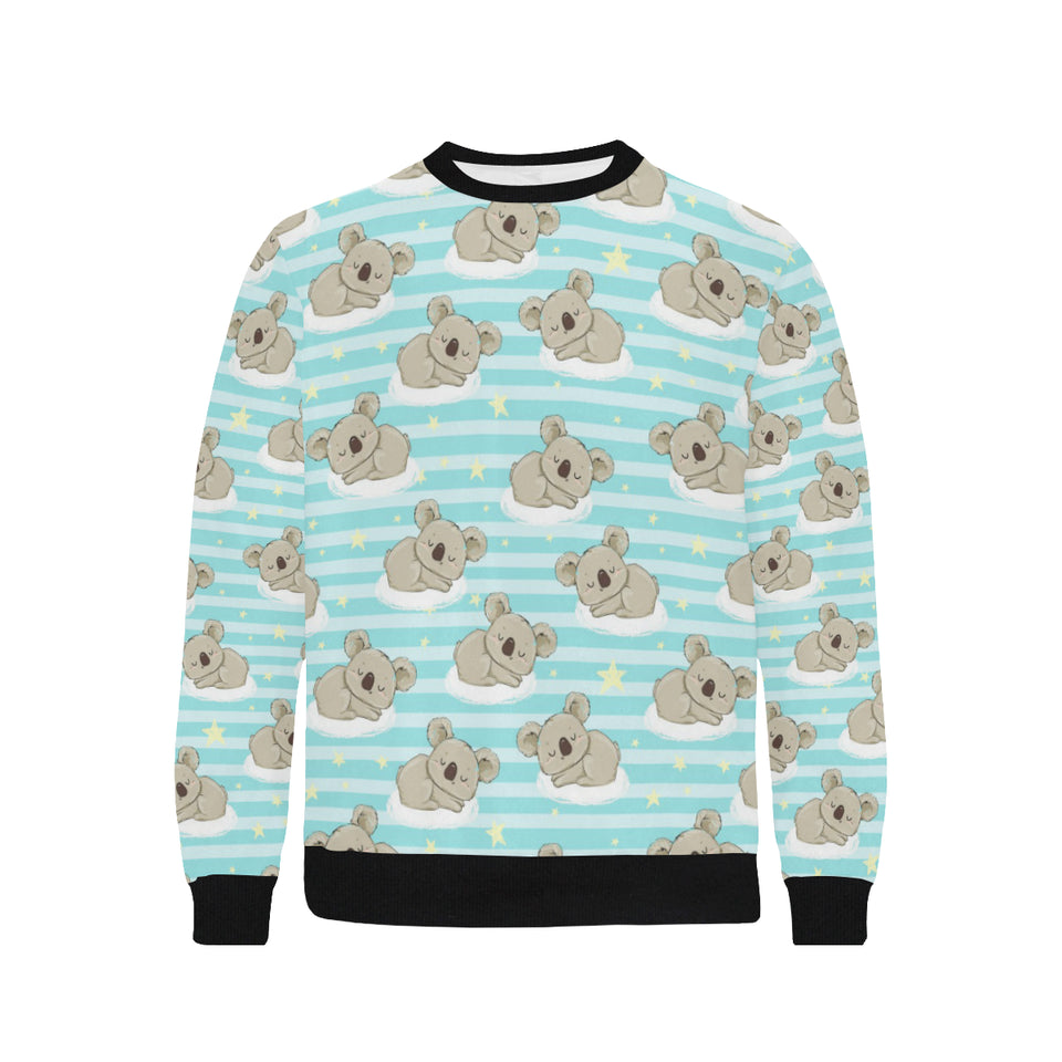 Sleep Koala Pattern Men's Crew Neck Sweatshirt