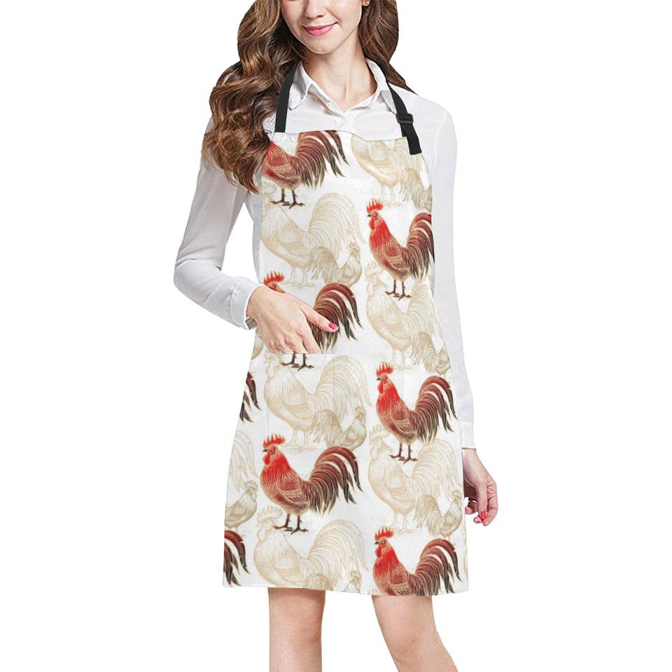 Rooster Chicken Pattern Adjustable Apron