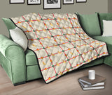 Golden Retriever Pattern Print Design 01 Premium Quilt