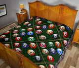 Billiard Ball Pattern Print Design 03 Premium Quilt