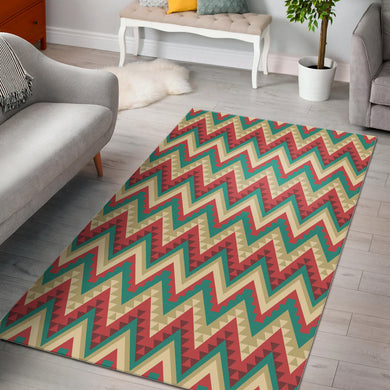 Zigzag Chevron Pattern Area Rug