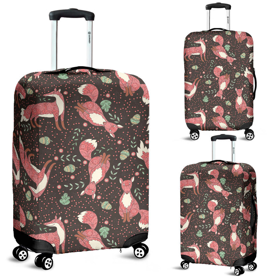 Fox Tribal Nut Pattern Luggage Covers
