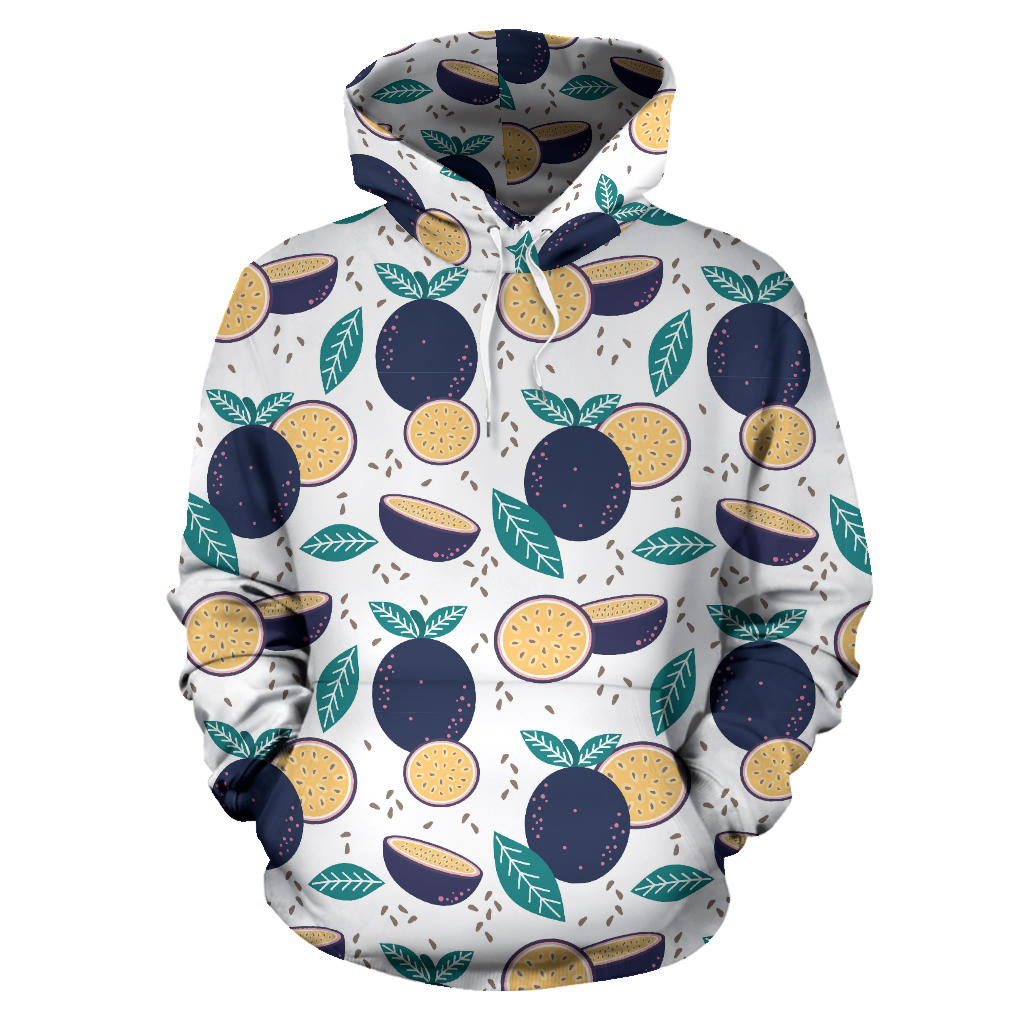 Passion Fruit Pattern Men Women Pullover Hoodie