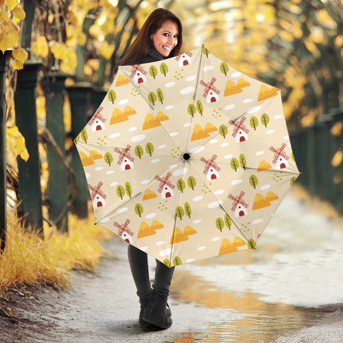 Windmill Pattern Umbrella