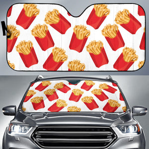 French Fries Theme Pattern Car Sun Shade