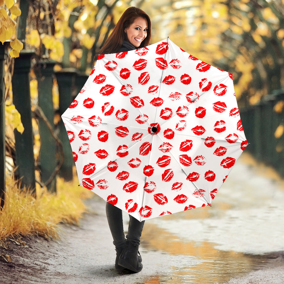 Lips Pattern Print Design 01 Umbrella