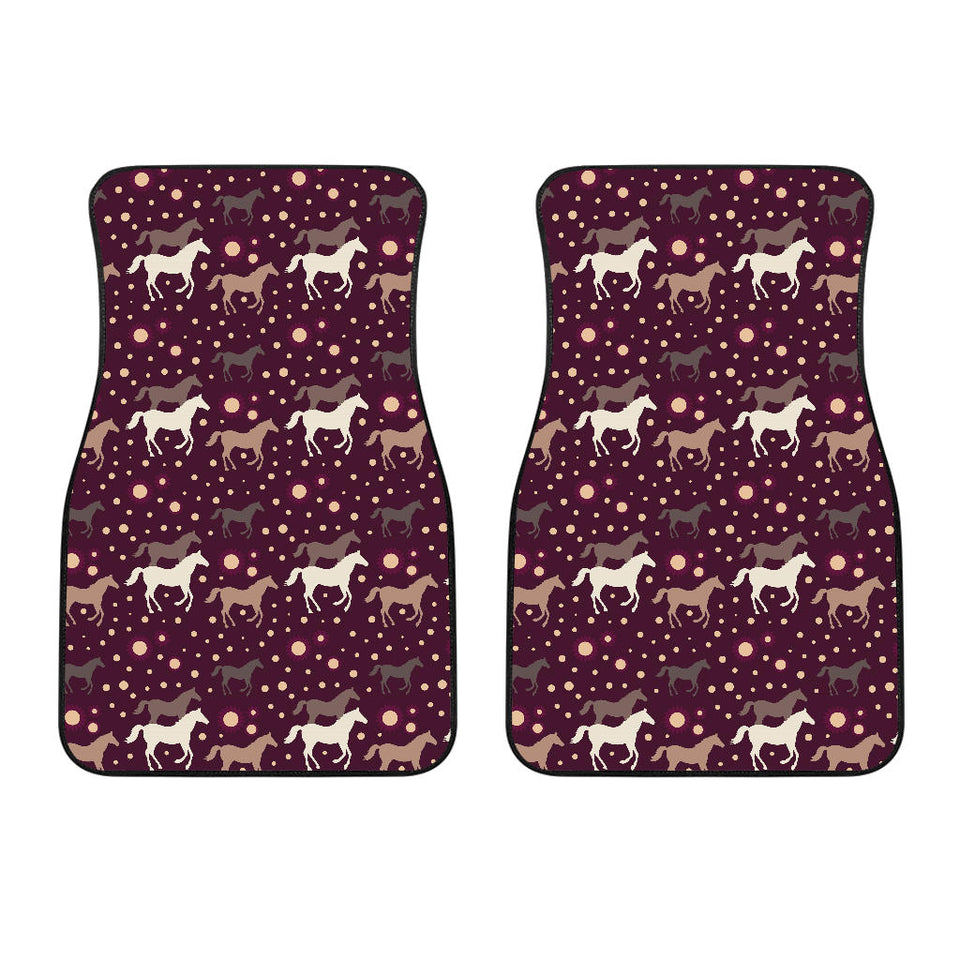 Horse Pattern Background Front Car Mats