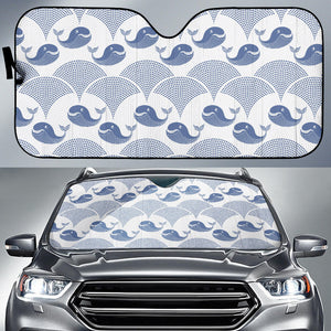 Whale Pattern Car Sun Shade