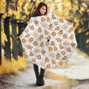 Christmas Gingerbread Cookie Pattern background Umbrella