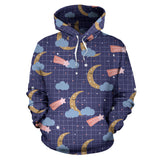 Moon Star Could Pattern Men Women Pullover Hoodie
