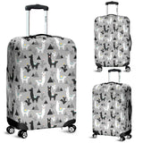 Black and White Llama Pattern Luggage Covers