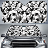 Crow Pattern Car Sun Shade