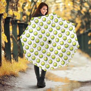 Tennis Pattern Print Design 05 Umbrella