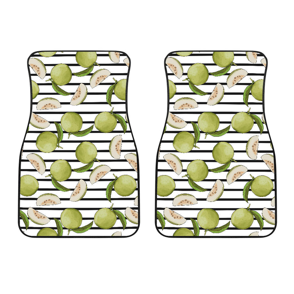 Guava Pattern Stripe background Front Car Mats